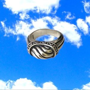 Brighton domed Sterling Silver ring. Size 6.75